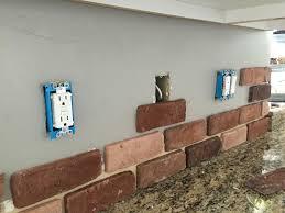 kitchen backsplash glass brick tiles for kitchen white brick