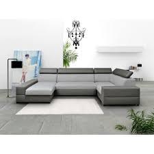 canapé d angle 6 places pas cher canapé d angle 6 places en u tissu et simili cuir achat