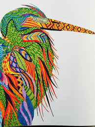 Millie Marotta Animal Kingdom Bird Using Connector Pens A Colour Scene Found Onlone
