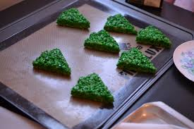 Rice Krispie Christmas Trees Recipe by Rice Krispie Christmas Trees The Sugary Shrink