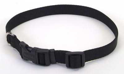 "Coastal Pet Products Nylon Adjustable Dog Collar - Black, Small, 5/8"" x 14"""