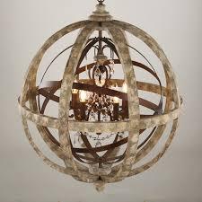 Dining Room Antique Lighting Globe Wooden Chandelierled Crystal Pendant Light For Stylish Household Wood Chandelier Remodel