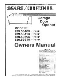 Craftsman 315mhz Garage Door Opener Troubleshooting Choice Image