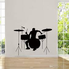 Wall Mural Decals Cheap by Cool Graphics Drummer Silhouette Rock Band Musicians Band Logos