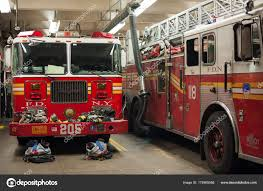 100 New York Fire Trucks Department Trucks In A Fire Station Stock Editorial