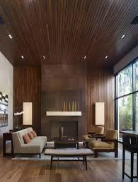 4 Thin Wooden Paneling In A Modern Living Room