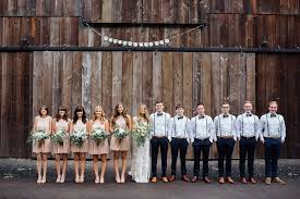 The Full Wedding Party Of Bridesmaids And Groomsmen Bride Groom Outside At Applegate