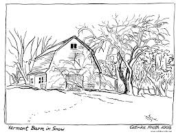 Printable Barn Coloring Pages Adult