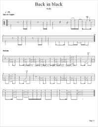 Rocket Smashing Pumpkins Tab by Back In Black Acdc Tablature Guitar Pro Back In Black