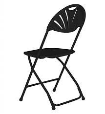 100 Bertolini Furniture Fanback Folding Chair Black Church Chairs By Glass Top