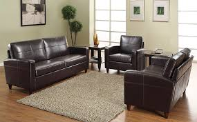 Office Star Black Or Espresso Eco Leather Reception Area Set