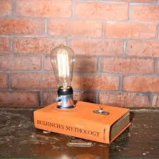 edison bulb book l small desk l bedside l edison l