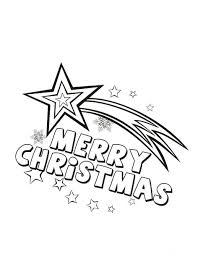 Merry Christmas Star Coloring Pages