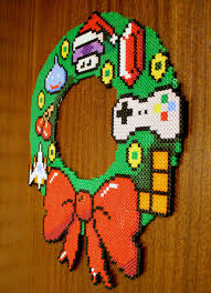 Halloween Hama Bead Patterns by 8bit Christmas Wreath Hama Beads By Lwordish On Deviantart