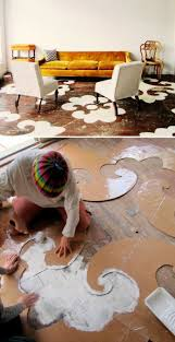 Glitsa Floor Finish Instructions by Diy Dramatic Floor Stencils Stenciling Woods And Creative