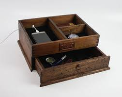 Mens Dresser Valet With Charger by Valet Etsy