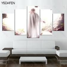 5 Piece Canvas Art Christian Jesus Resurrected Painting HD Wall Prints Decorations For
