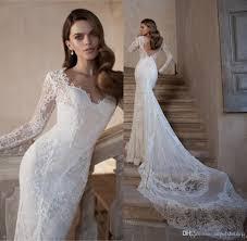 tarik ediz bridal 2015 long sleeve wedding dress lace open back