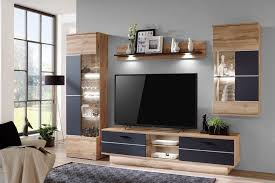 ideal möbel wohnwand alfonso wotan eiche weiß matt möbel
