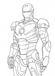 Iron Man Colouring In Pages