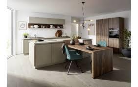 contur 52 210 51 200 küchenzeile inkl insel mit viel how in charleteiche und beton kieslgrau nachbildung