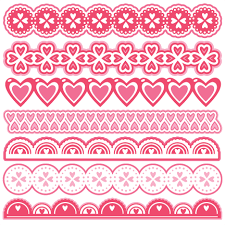 Valentine Borders Scrapbook Cuts SVG