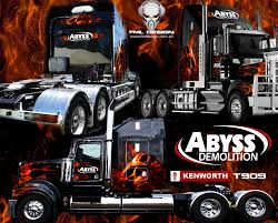 Abyss Demolition Truck Wrap - FML DESIGN - SIGNAGE, VINYL WRAPS ...