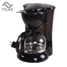 TTLIFE Black Automatic Coffee Machine Portable Drip Maker Cappuccino With Milk Steaming High Quality Italian
