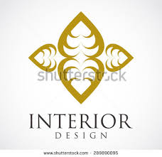 Interior Design Elegant Logo Gold Element Decoration Or Decorative Symbol Shape Icon Vector Template Business Abstract