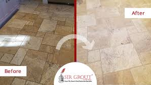 see how a grout cleaning service worked wonders restoring this