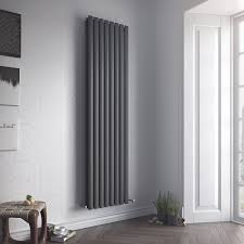 Eucotherm Nova Duo Double Modern Vertical Oval Tube Radiator Tall Central Heating