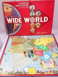 1962 Wide World Air Travel Game Vintage Parker Brothers Board Complete ParkerBrothers