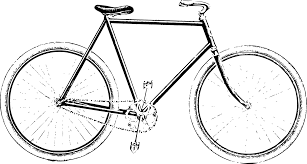 Clipart Description Black And White Bicycle Transparent Background