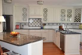 White Cabinets Dark Countertop Backsplash by Kitchen Elegant Granite Kitchen Countertops With White Cabinets