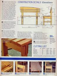 bench seat plans u2022 woodarchivist