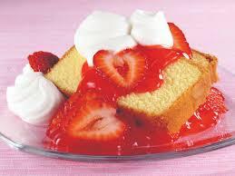 Recipe Lemon Semolina Pound Cake with Macerated Strawberries