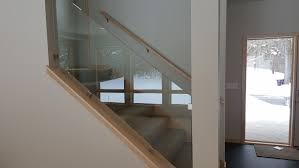 Glass Railings MN | Custom Cut Glass, Shower Enclosures ... Glass Stair Rail With Mount Railing Hdware Ot And In Edmton Alberta Railingbalustrade Updating Stairs Railings A Split Level Home Best 25 Stair Railing Ideas On Pinterest Stairs Hand Guard Rails Sf Peninsula The Worlds Catalog Of Ideas Staircase Photo Cavitetrail Philippines Accsories Top Notch Picture Interior Decoration Design Ideal Ltd Awnings Wilson Modern Staircase Decorating Contemporary Dark