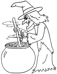 Witch Coloring Page 9