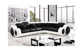 canapé noir et blanc canapé d angle cuir hawai 3 noir blanc canapé d angle noir en