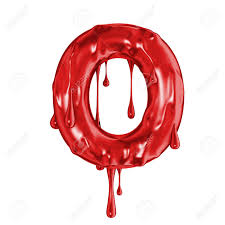Blood Font Halloween Horror Letter O Stock Photo Picture And