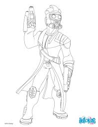 Star Lord Guardians Of The Galaxy Coloring Page