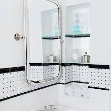 black and white border bath wall tiles design ideas