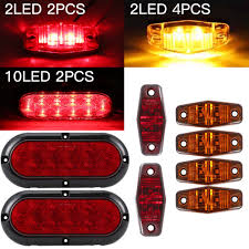 100 Truck Marker Lights Trailer LED Light Stop Turn Tail Light Complete Kit