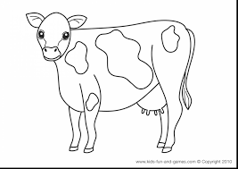 Extraordinary Printable Coloring Pages Farm Animals Cow With And