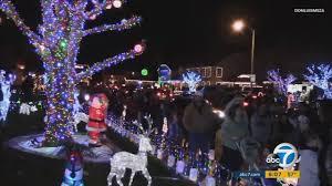 Christmas Tree Lane South Pasadena by Christmas Abc7 Com