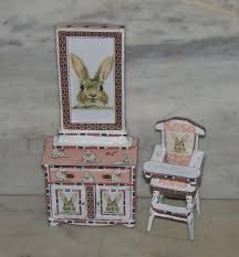 Nursery Furniture For 1:12th Dollhouse. Sold Separately. Framed Art.  Cabinet. High Chair. Rabbit Theme. Az Of Fniture Terminology To Know When Buying At Auction Light Blue Rabbit Mini Velvet Chair Repair Those Loose Ding Chairs Yourself And Save Money Do You What Do My Baby Cradle Weston Table Wooden High Stool On Grey Background Stock Image Details About Waterproof 20 Hutch Pet Habitat Cages Bunny Small Animal House Vintage Wood Mid Century Childs Folding Potty By Toidey Shaker Style Is Back Again As Designers Celebrate The First Rare Thomas Edison Crib Little Folks Solid Bench Children Study Girl Ding 2849cm Kids Boys Ears C139 Nursery Fniture For 112th Dollhouse Sold Separately Framed Art Cabinet Theme