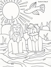 Picture John Baptizing Jesus Coloring Page