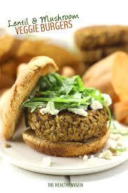 Lentil and Mushroom Veggie Burgers