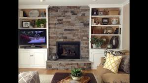 Living Room With Fireplace And Bookshelves by Bookshelf Cabinet On Either Side Of Fireplace Youtube