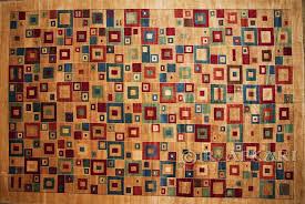 70001242 Modern Art Deco Design Wool Carpet 13 X 19